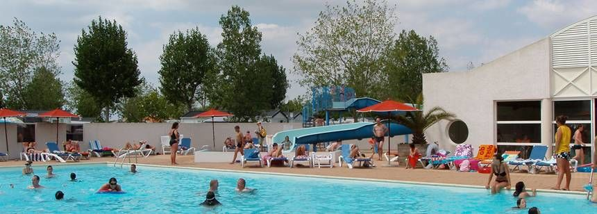 Swimming Pool at the Le Jard Campsite, France
