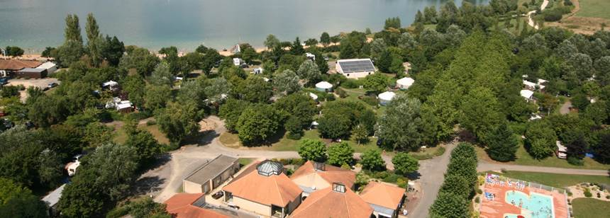 Arial view, Lac St Cyr campsite, Poitiers, France