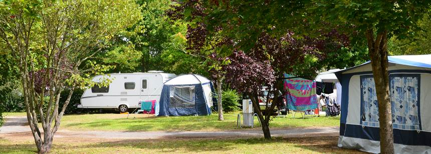 Camping pitches, Camping Lac de St Cyr, nr Poitiers, France