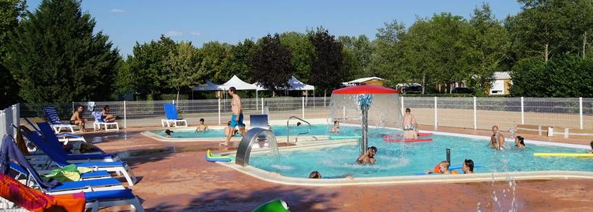 Swimming Pool and Water Sports Activities at the Lac De St Cyr Campsite, France