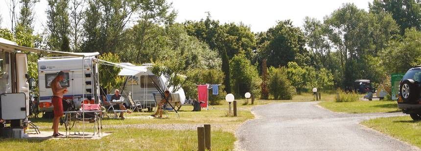 Grass Pitches at the L'Etang Des Forges Campsite France