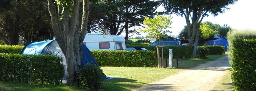 Some of the pitches at Camping La Corniche, Plozévet, Brittany