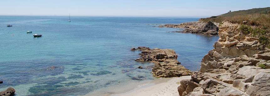 The lovely coastline close to Camping La Corniche, Plozévet, Brittany