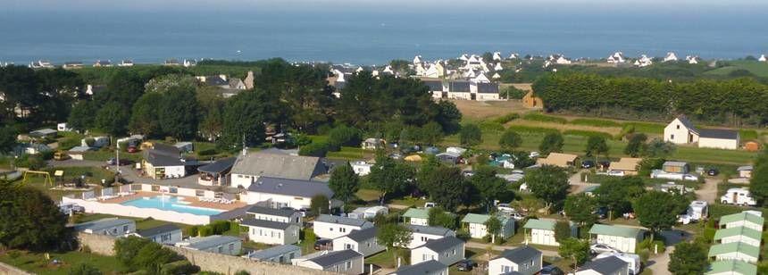 A view of Camping La Corniche, Plozévet, Brittany