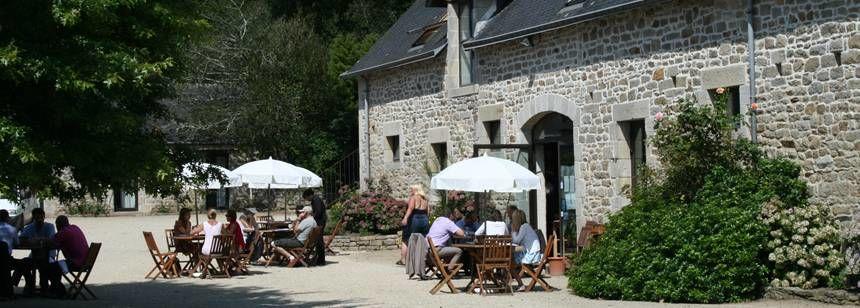 Restaurant and Facilities at the L'Orangerie De Lanniron Campsite, France