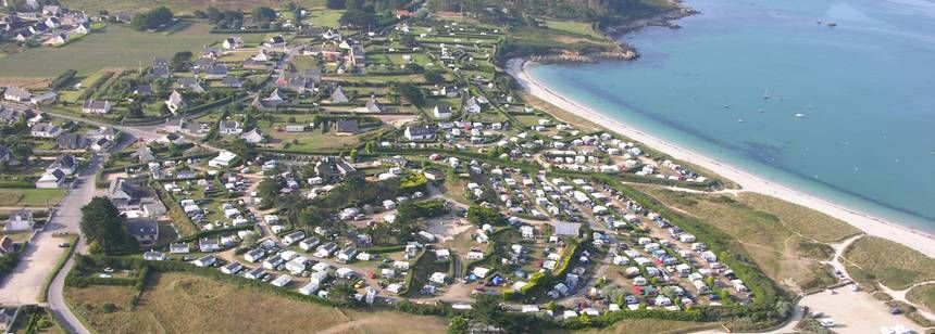 Arial Views of the Les Abers Campsite, France
