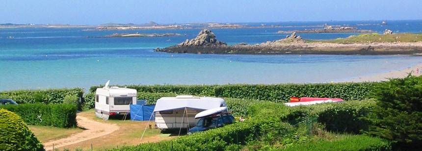 Grass Pitches With Views of the Beach at the Les Abers Campsite, France