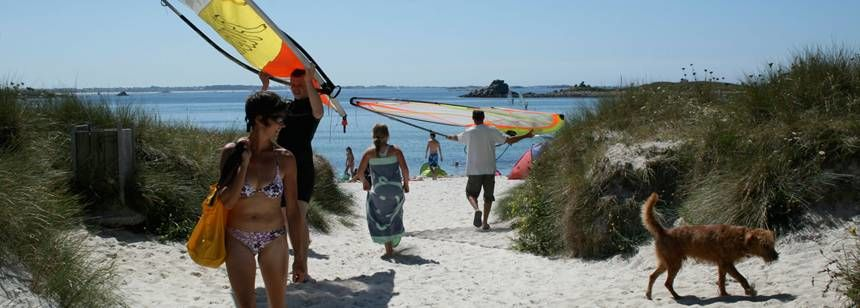 Beach and Water Sports Activities at the Les Abers Campsite, France