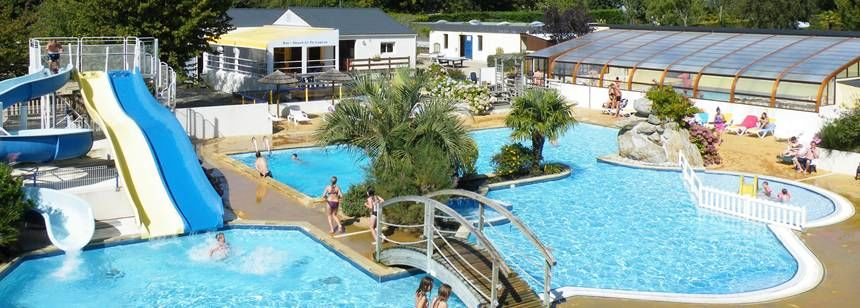 Swimming Pool and Water Sports Activities at the De La Piscine Campsite, France