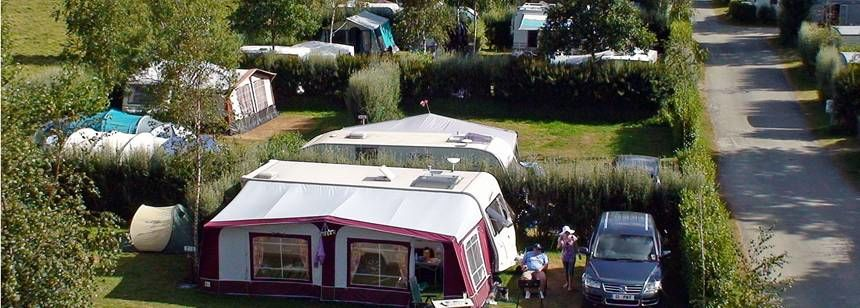 Grass Pitches at the De La Piscine Campsite, France