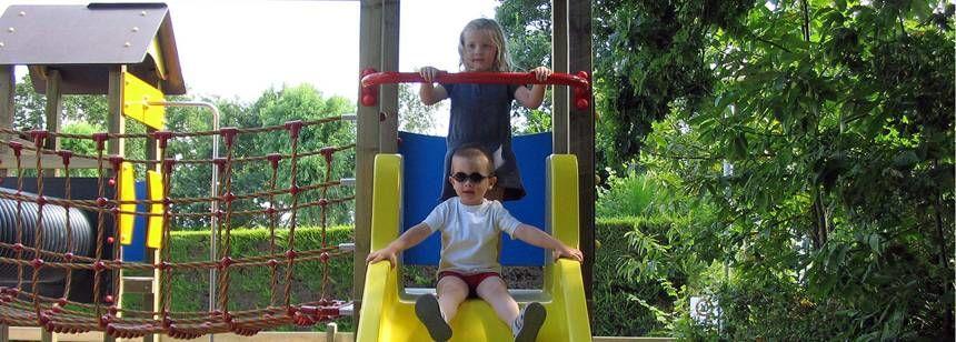 Childrens Play Area at the De La Piscine Campsite, France