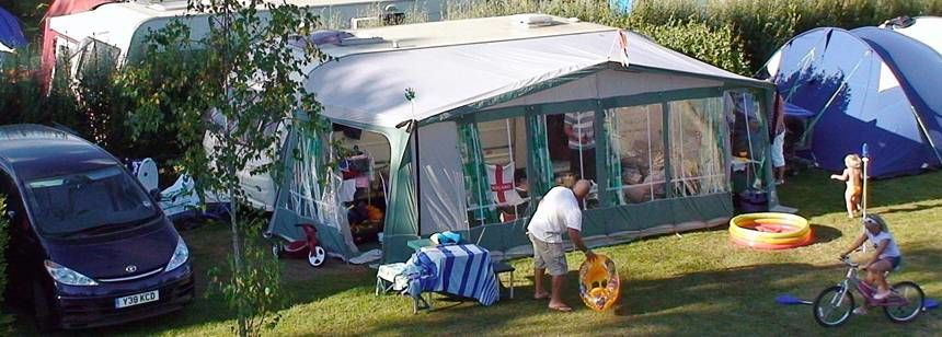Typical pitches at Camping La Piscine, Beg-Meil, France