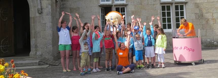 Children love the kids club at Camping Village l'Océan Breton, near Lesconil, Brittany , France