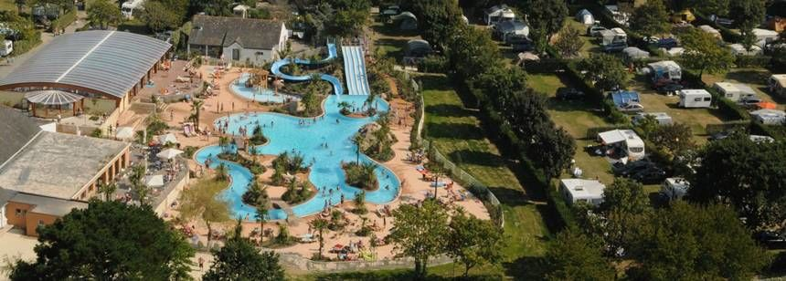 Arial Views of the Le Letty Campsite, France