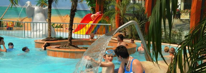 Water Sports Activities and Childrens Play Area at the Le Letty Campsite, France