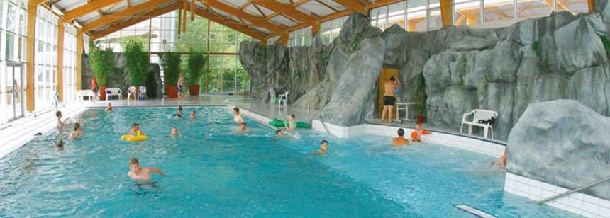 Indoor Swimming Pool at the Ty-Nadan Campsite, France