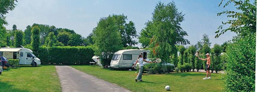 Grass Pitches in the Scenic Le P'Tit Bois Campsite, France