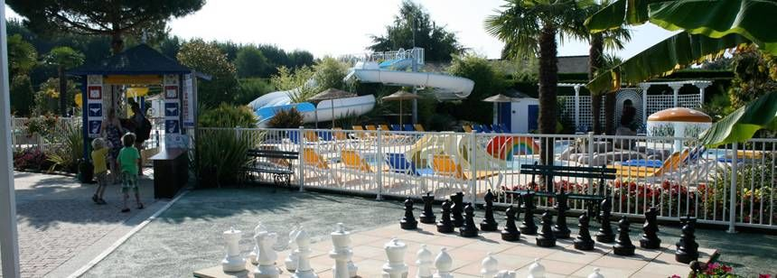 Facilities and Childrens Play Area at the Le P'Tit Bois Campsite, France