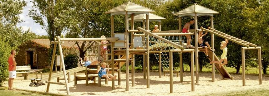Childrens Play Area at the La Ferme Du Latois Campsite, France