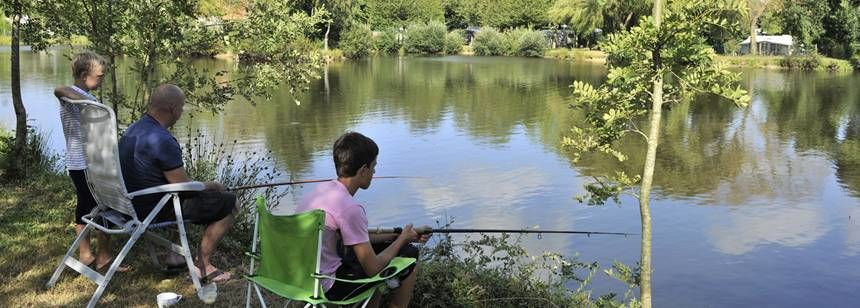 Fishing On the Banks of the River By the La Ferme Du Latois Campsite, France