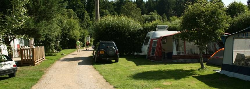 Grass Pitches and Walkways Through Theau Clos De La Chaume Campsite, France