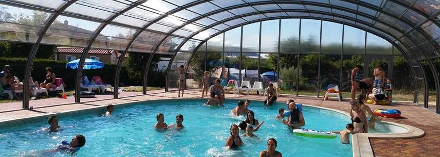 Swimming Pool at the Au Clos De La Chaume Campsite, France