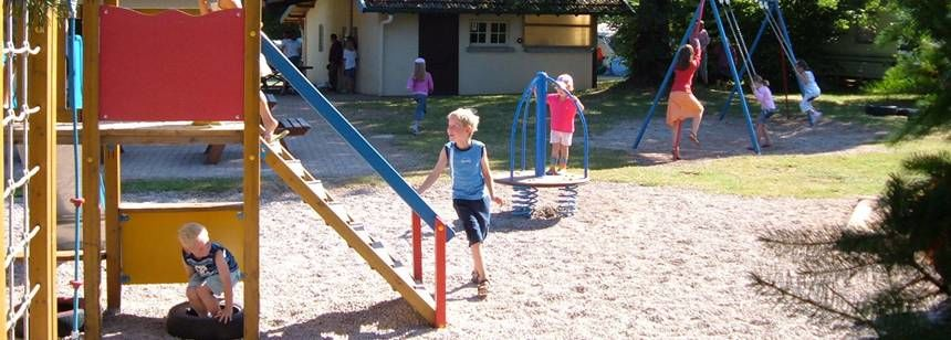 Childrens Play Area at the Au Clos De La Chaume Campsite, France
