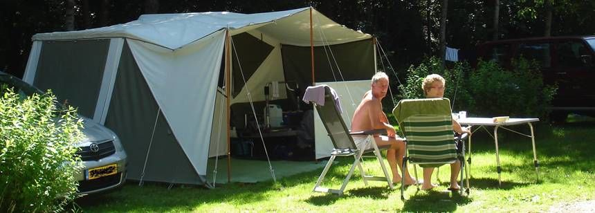 Relaxing in the Scenic Surrounds of Au Clos De La Chaume Campsite, France