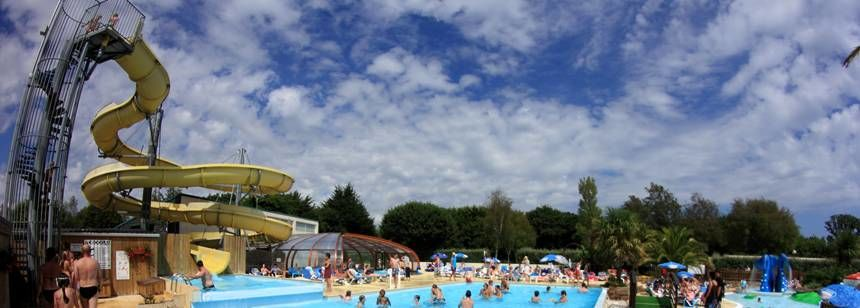 Swimming Pool at the L'Atlantique Campsite, France