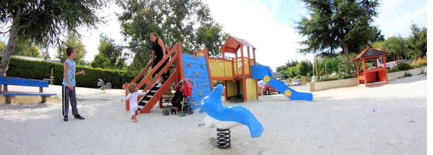 Childrens Play Area at the L'Atlantique Campsite, France