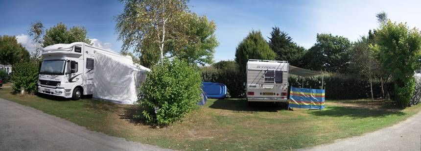 Grass Pitches at the L'Atlantique Campsite, France