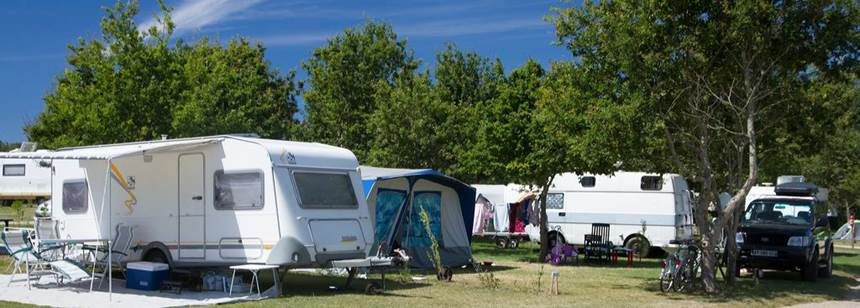 Typical pitches, Camping la Chênaie, Loire-Atlantique, France