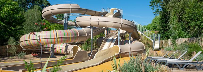 New 4 lane waterslide, Camping la Chênaie, Loire-Atlantique, France