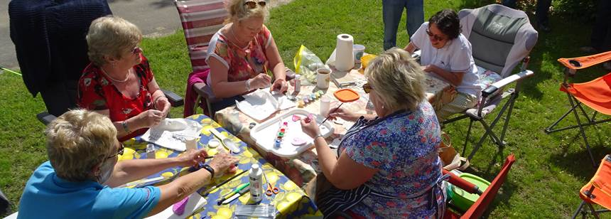 Craft morning at Soleil Plage Rally, Dordogne, France
