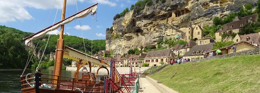 La Roque-Gageac near Soleil Plage Rally, Dordogne, France