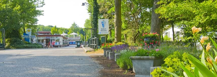 The entrance to campsite Delftse Hout, Delft, Holland