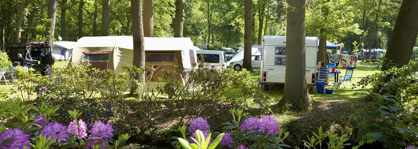 Typical pitches, Duinrell campsite, the Netherlands