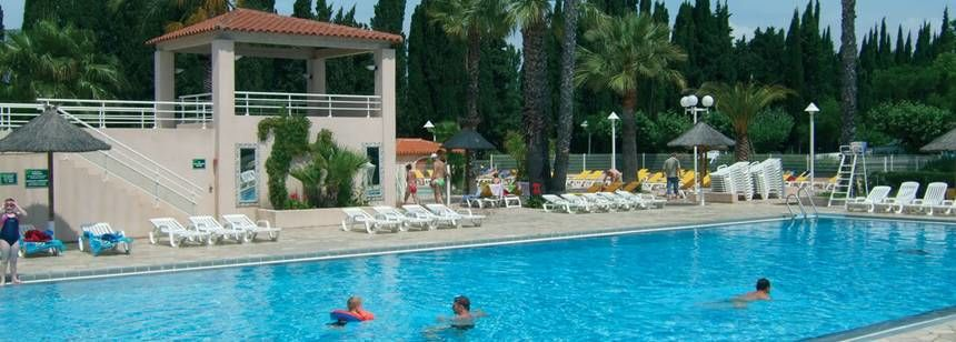 The swimming pool at L'Etoile d'Argens, St Aygulf, France