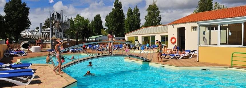 The swimming pool at La Bolée d'Air, St. Vincent-su-Jard, France