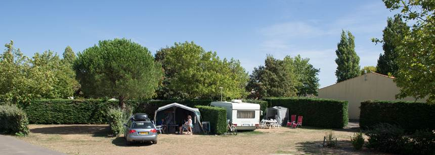 Pitches at Camping la Bolée d'Air, Vendée, France