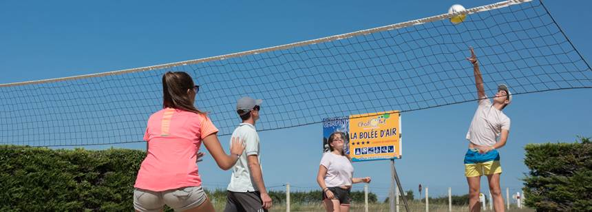 Volleyball at Camping la Bolée d'Air, Vendée, France