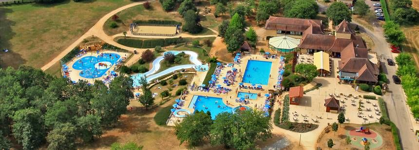 Aerial Shot of the pools at St Avit