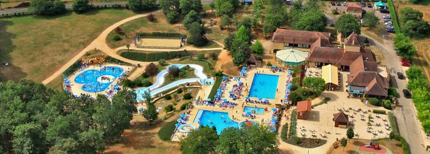 Aerial shot of the pool at St Avit