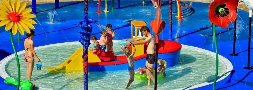 Fun in the splash pool