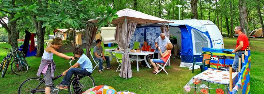 Camping pitch at St Avit