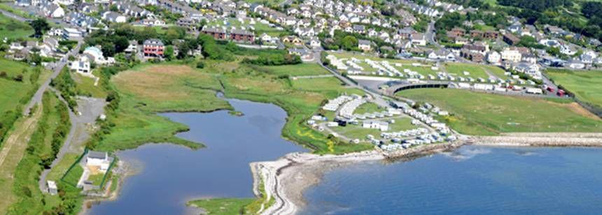 Aerial view of Salthill Caravan Park, Galway.