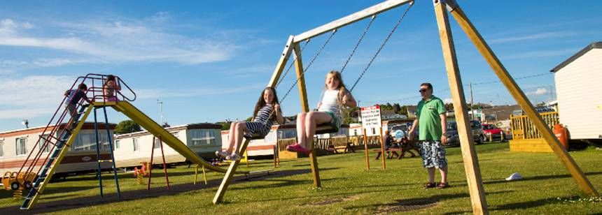 The children's play area at Salthill Caravan Park, Galway