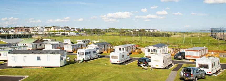 Hardstanding pitches at Salthill Caravan Park, Galway