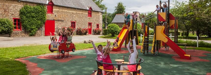The play area at Domaine du Logis