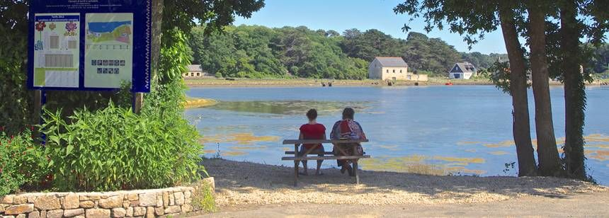 View of the lake at Camping Le Lac, Carnac, South Brittany